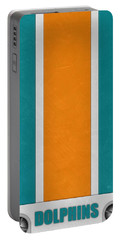 Miami Dolphins Helmet Art Portable Battery Charger