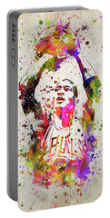 Michael Jordan In Color Portable Battery Charger