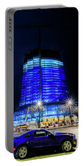 Portable Battery Charger featuring the photograph Midnight Blues by Randy Scherkenbach