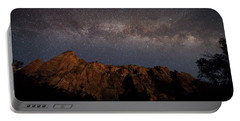 Milky Way Galaxy Over Zion Canyon Portable Battery Charger