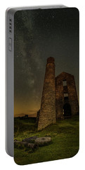 Milky Way Over Old Mine Buildings. Portable Battery Charger