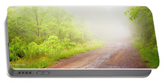 Misty Back Road, Pocono Mountains, Pennsylvania Portable Battery Charger