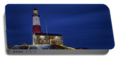 Portable Battery Charger featuring the photograph Montauk Point Lighthouse by Susan Candelario