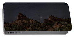 Portable Battery Charger featuring the photograph Moonlit Canyon by Melany Sarafis