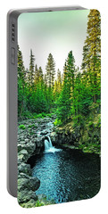 Morning At The Falls Portable Battery Charger by Nancy Marie Ricketts