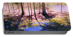 Portable Battery Charger featuring the photograph Mossy Ground by Shirley Moravec