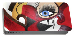 Portable Battery Charger featuring the painting Motley Eye 2 by Alisha Anglin