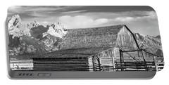 Portable Battery Charger featuring the photograph Moulton Homestead - Barn by Colleen Coccia
