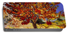 Portable Battery Charger featuring the painting Mulberry Tree by Van Gogh
