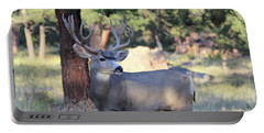 Portable Battery Charger featuring the photograph Muley Buck by Shane Bechler
