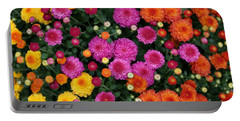 Multi Colored Mums Portable Battery Charger by Living Color Photography Lorraine Lynch