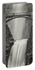 Multnomah Falls Upclose Portable Battery Charger by Don Schwartz