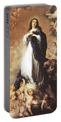 Murillo Immaculate Conception  Portable Battery Charger by Bartolome Esteban Murillo