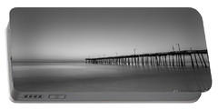 Nags Head Fishing Pier Sunrise Portable Battery Charger by Michael Ver Sprill