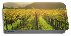 Napa Valley California Vineyard In The Fall Portable Battery Charger