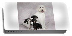 Fur Friends Portable Battery Charger by Erika Weber