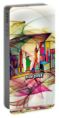 New York By Nico Bielow Portable Battery Charger by Nico Bielow