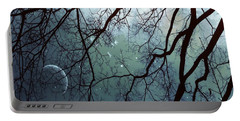 Portable Battery Charger featuring the photograph Night Sky In The Woods by Marianna Mills