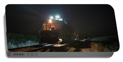 Night Train Portable Battery Charger by Aaron J Groen