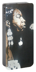 Nina Simone Portable Battery Charger by Rachel Natalie Rawlins