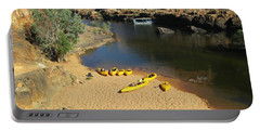 Nitmiluk Gorge Kayaks Portable Battery Charger by Tony Mathews