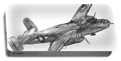 North American B-25 Mitchell Portable Battery Charger by R Kyllo