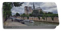 Notre Dame Paris Portable Battery Charger by Lynn Bolt