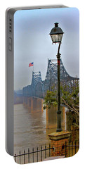 Portable Battery Charger featuring the digital art Old Bridge Of Vicksberg, Ms by Bonnie Willis