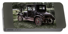 Old Car Portable Battery Charger by Bonnie Willis