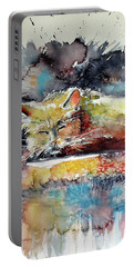 Old Cat Resting Portable Battery Charger by Kovacs Anna Brigitta