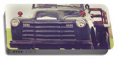 Old Chevy Farm Truck In Vermont Square Portable Battery Charger