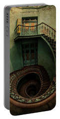 Old Forgotten Spiral Staircase Portable Battery Charger