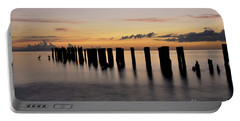 Old Naples Pier Portable Battery Charger by Kelly Wade