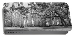 Old Sheldon Church - Tree Canopy Portable Battery Charger by Scott Hansen