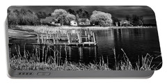 On The Lake Portable Battery Charger by Kevin Cable