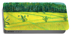 Portable Battery Charger featuring the painting On The Way To Ubud II Bali Indonesia by Melly Terpening