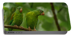 Orange -chinned Parakeets  Portable Battery Charger
