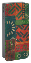 Orange Green Abstract Portable Battery Charger