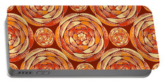 Orange Pattern Portable Battery Charger