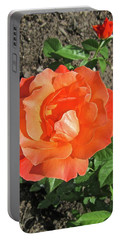 Portable Battery Charger featuring the photograph Orange Rose by Stephanie Moore