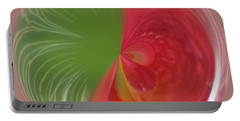 Portable Battery Charger featuring the photograph Orb Image Of A Wild Red Columbine by Brenda Jacobs