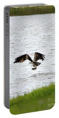 Osprey Fishing In The Afternoon Portable Battery Charger by Carol Groenen