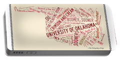 Ou Word Art University Of Oklahoma Portable Battery Charger