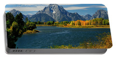 Oxbow Bend In Autumn Portable Battery Charger