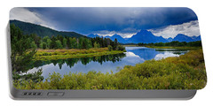 Oxbow Bend Storm Clouds Portable Battery Charger