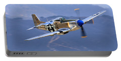 P51d Mustang At Salinas Portable Battery Charger