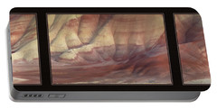 Portable Battery Charger featuring the photograph Painted Hills Triptych by Leland D Howard