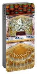 Portable Battery Charger featuring the photograph Detail Of The Palace Of Sheki Khans by Fabrizio Troiani