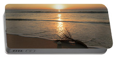 Palm Frond Coral Sunrise Delray Beach Florida Portable Battery Charger