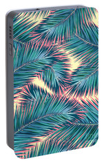 Palm Trees  Portable Battery Charger by Mark Ashkenazi
